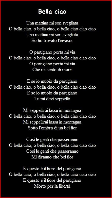 parole chanson bella ciao