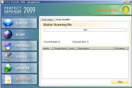 nanoantivirus nano antivirus perfectdefender2009