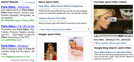 yahoo glue paris hilton