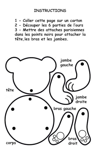 Activit pantin articul - Dessiner un ours en maternelle ...