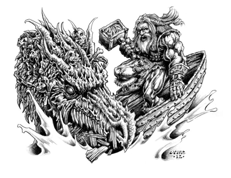 Thor pêchant Iormungand