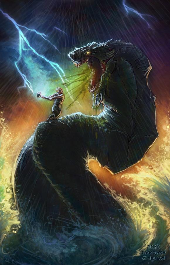 Thor contre Iormungand