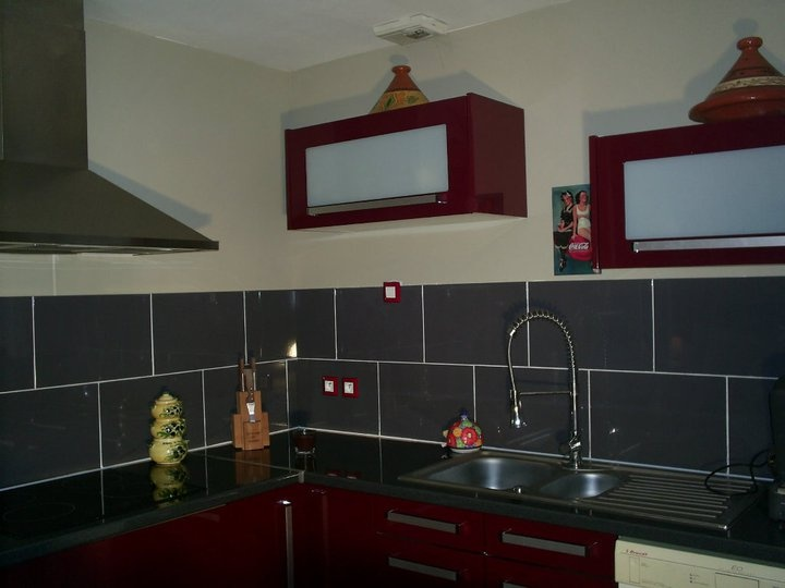 Rideaux Chambre Bebe Mickey : Rouge+City+Ai  les murs pour une cuisine rouge ?  Décoration