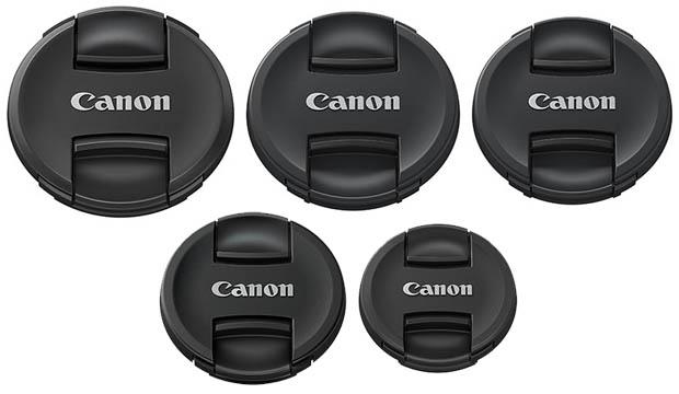 Des bouchons d'objectifs à pincement central pour Canon