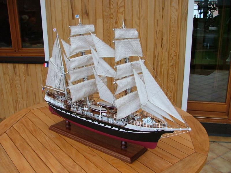 Soclaine bateau Le Belem 1896 bois trois mats
