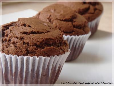 muffins au chocolat bien gourmands le monde culinaire de meriem. Black Bedroom Furniture Sets. Home Design Ideas