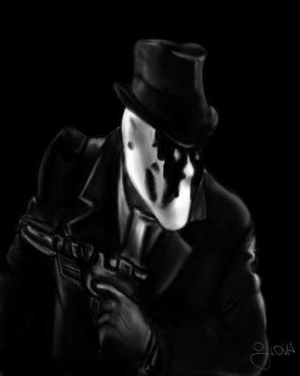 Rorschach (Watchmen) - Dibujo digital