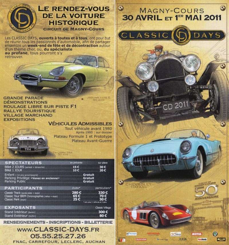 classic days 30 avril et 1er mai 2011 magny cours. Black Bedroom Furniture Sets. Home Design Ideas