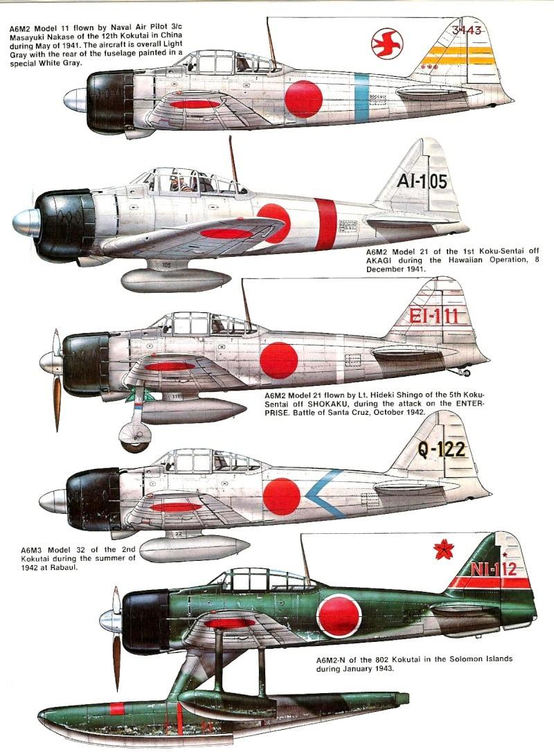 A6m2 type 21 ech 1 48 de fujimi petit up fin volet - Porte avion japonais seconde guerre mondiale ...