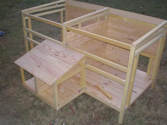voici mon poulailler double. Black Bedroom Furniture Sets. Home Design Ideas