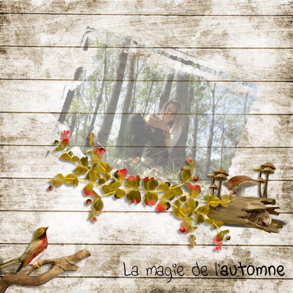 falling in autumn kit simplette page koccy karine