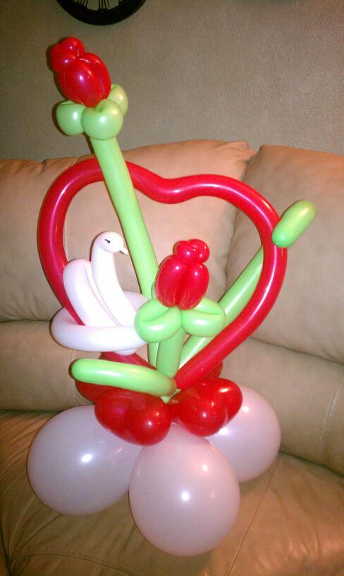 Valentine balloon arrangements images