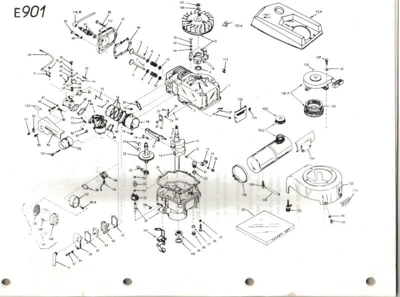 schema moteur briggs stratton tondeuse