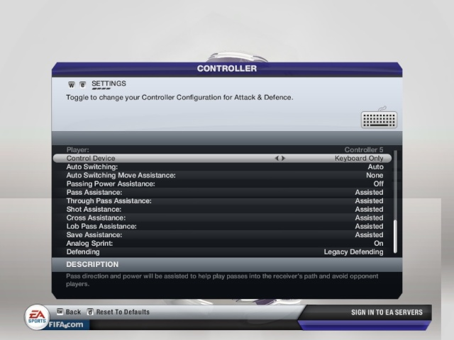 How To Set Up FIFA 12 Manual Controls