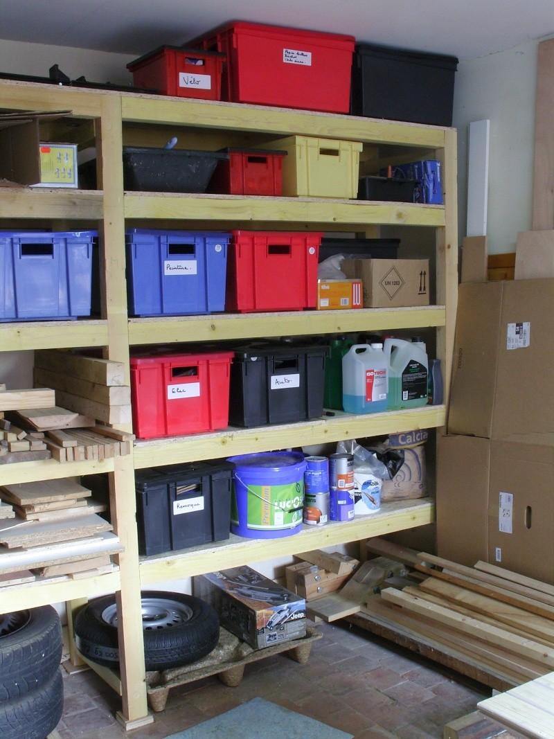 Fabriquer Des Rangements En Bois etagère sur mesures pour le garage (1/1) - histoires de bois