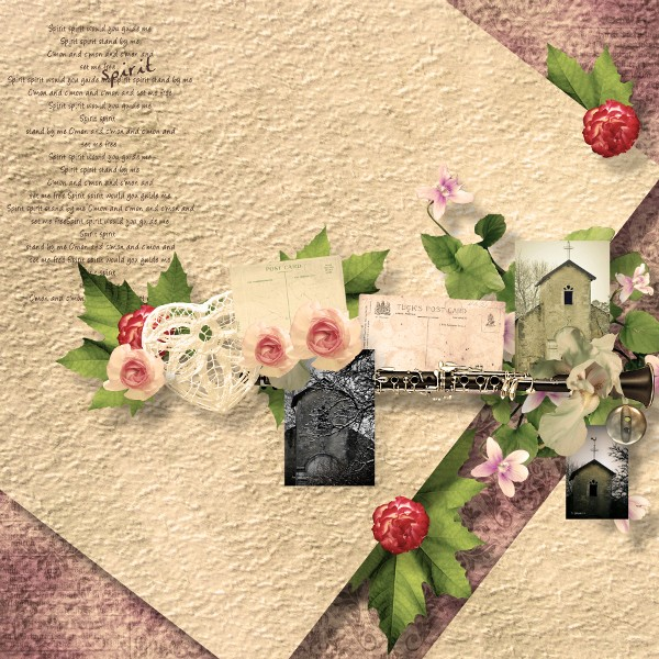 some years ago simplette scrap design vintage page scrapbxl