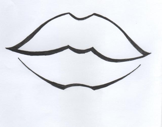 comment dessiner une bouche facile