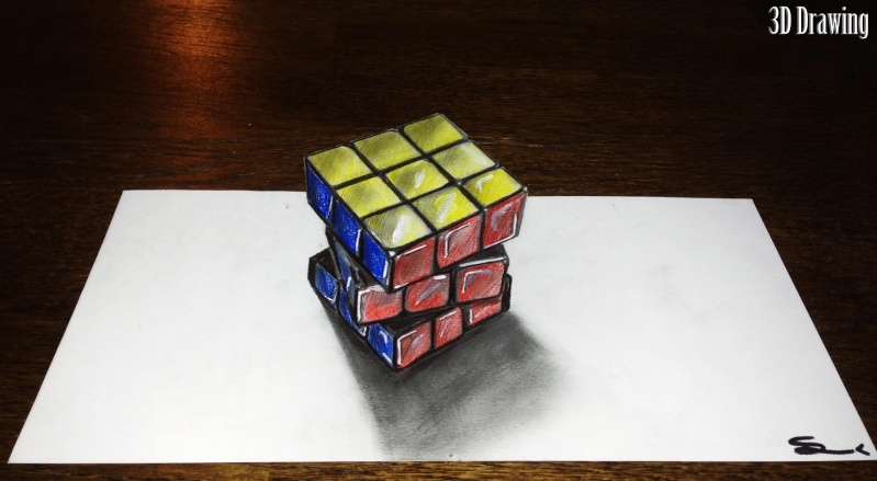Rubiks cube 3d for Dessin en 3d