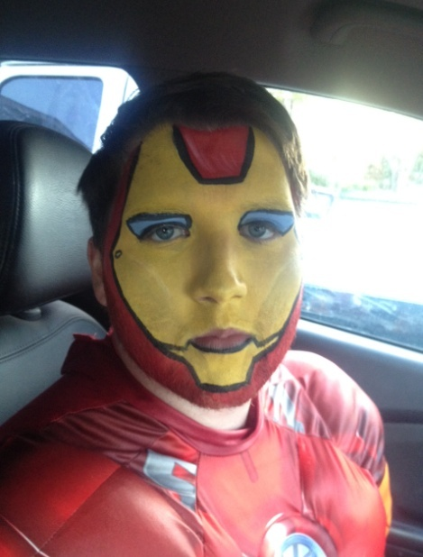 Iron Man Face Paint Iron Man Face Paint Iron Man
